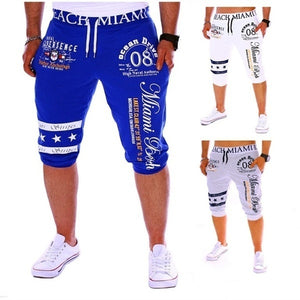 THEWELL New men's pants casual drawstring elastic waist fashion printing letter loose sports pants wtpwC-190612122A48