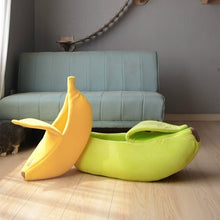 Load image into Gallery viewer, 5 Colors Banana Pet Nest Cat Bed House Puppy Cushion Kennel Warm Portable Pet Basket Supplies Mat