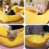 5 Colors Banana Pet Nest Cat Bed House Puppy Cushion Kennel Warm Portable Pet Basket Supplies Mat
