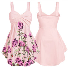 Load image into Gallery viewer, ETlieren Sleeveless Floral Print Ruffle Tank Tops Ladies Fashion Camisole Top Blouse