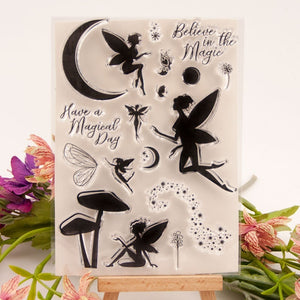 Fairy  Transparent Silicone Stamp& Cutting Dies For DIY Scrapbooking Card Making Decoration Supplies