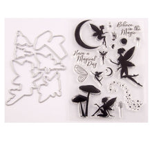 Load image into Gallery viewer, Fairy  Transparent Silicone Stamp& Cutting Dies For DIY Scrapbooking Card Making Decoration Supplies