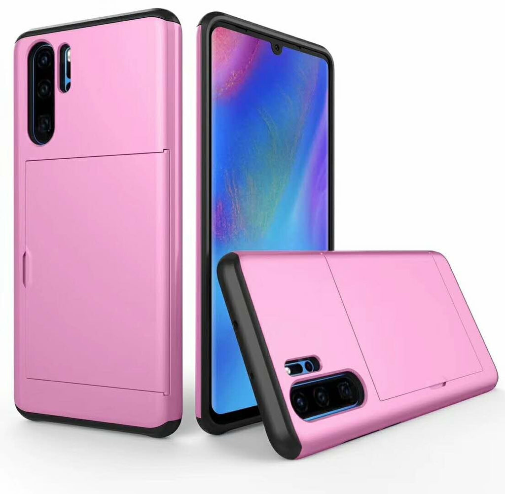 Huawei P30 Pro Case, Armor Shockproof Case Wallet Case Cover Protective Case Rubber Bumper Card Holder Slot Wallet Case Cover for Huawei P30