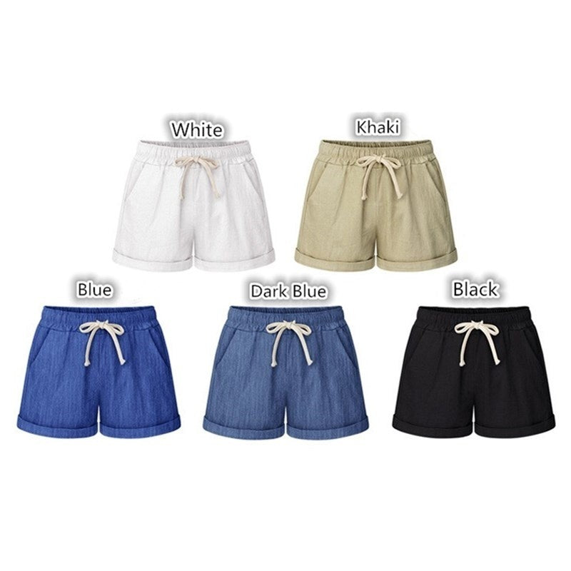 2019 Summer Shorts Womens Casual Loose Shorts Beach Shorts