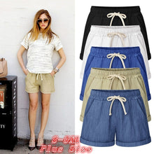 Load image into Gallery viewer, 2019 Summer Shorts Womens Casual Loose Shorts Beach Shorts