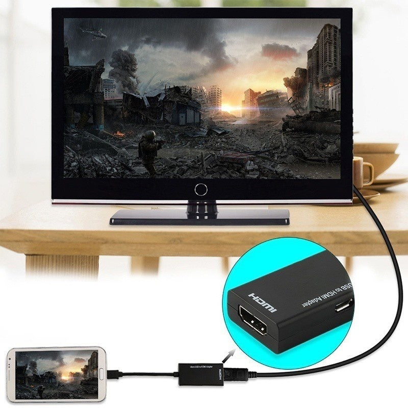 Micro USB To HDMI TV Out HDTV MHL Adapter Converter Cable for Phone or Tablet