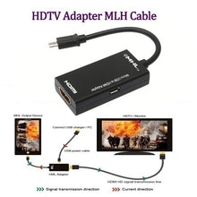 Load image into Gallery viewer, Micro USB To HDMI TV Out HDTV MHL Adapter Converter Cable for Phone or Tablet