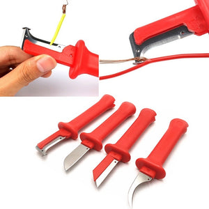 1pcs Cable Stripping Knife Wire Stripper Stripping Cutter Crimping Tool for Rubber Cable(6 Types)