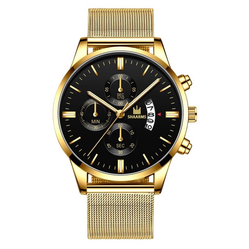 Army Military Sport Date Analog Quartz Wrist Watch For Men Fashion Stainless Steel Men Casual Watch Male Clock