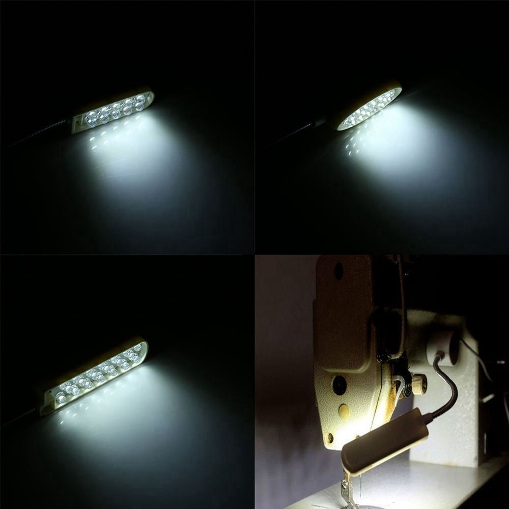 Lighting Mounting Flexible Portable AC110-250V 12 LED Lamp Sewing Machine Light Magnetic Work Light
