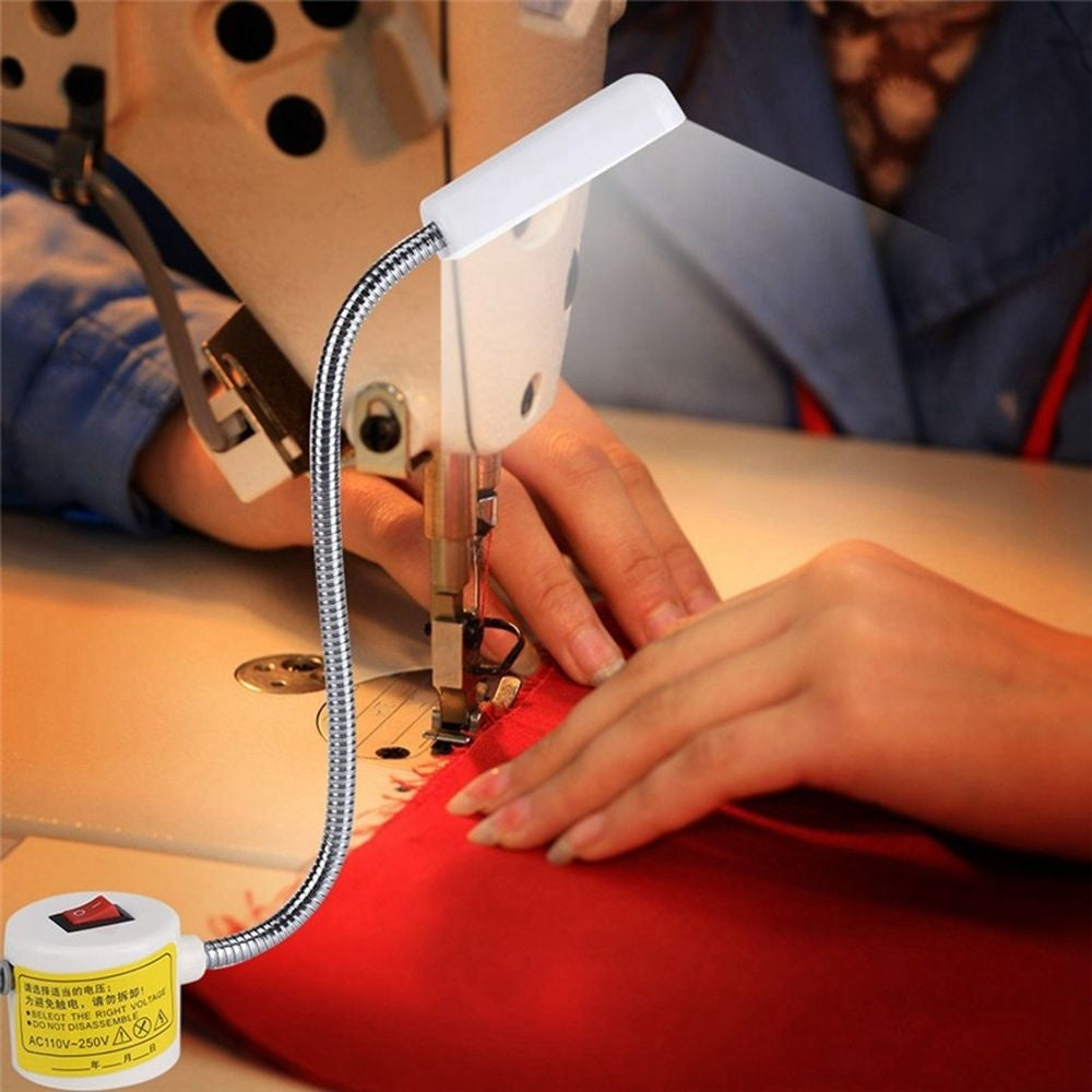 Industrial Mounting LED 12 LED AC110-250V Flexible USB Lamp Sewing Machine Light Magnetic Work Light