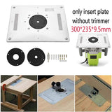 auli? 300mm * 235mm * 9.5mm Woodworking Trimming Router Table Insert Plate