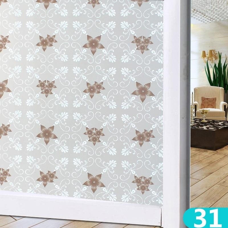 100*60 cm 39.37''*23.6''inch Window Film PVC Frosted Opaque Privacy Glass Window Films Waterproof Bathroom Glass Stickers ( 43 Styles)