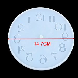 5 Types Creative DIY Handmade Resin Clock Mold Silicone Bell Mold DIY Craft Arts