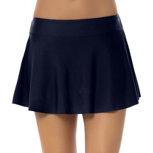 New Women's Swimming Skirt Solid Color Swimsuit Simple Swimming Trunks Sexy Beachwear