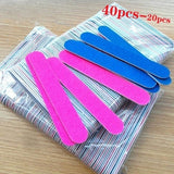 40Pcs/20pcs/Pack Disposable Nail Files Double Sided Emery Boards Manicure Pedicure Tools Home Or Professional Boards Manicure Tools
