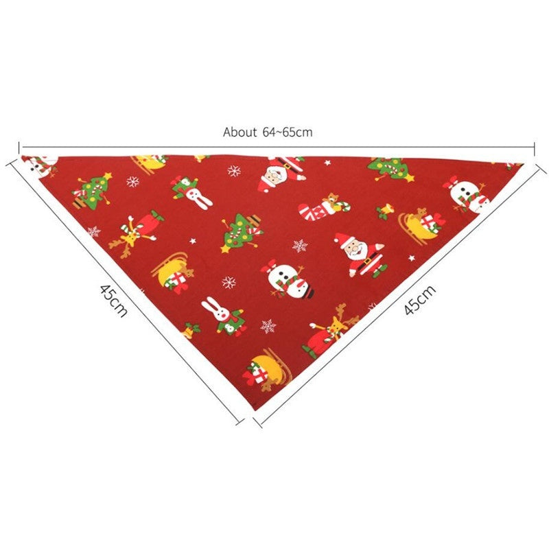 Christmas Pet Dog Bandana Small Large Dog Bibs Towel Scarf Halloween Pumpkin Printing Puppy Pet Grooming Costume Accessories