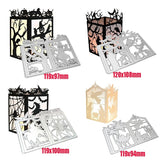 1 Set Christmas Lantern,Halloween Pumpkin,Halloween Witch Or Halloween Tree 4 Styles Optional Metal Cutting Dies Stencil DIY Scrapbooking Album Stamp Paper Card Embossing Crafts Decor OFT