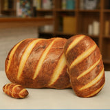 3D HD Prints Butter Bread Shape Pillow Plush Toys for Home Decor