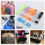 2pcs Luggage Suitcase Bags Hang Buckle Strap Portable Travel Hanging Belt Anti-Lost Clip Strap Luggage Anti-Lost Strap