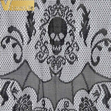 96.5x102cm Halloween Lace Decoration Black Spiderweb Fireplace Cloak Scarf Cover Curtains Shades Party Holiday Supplies