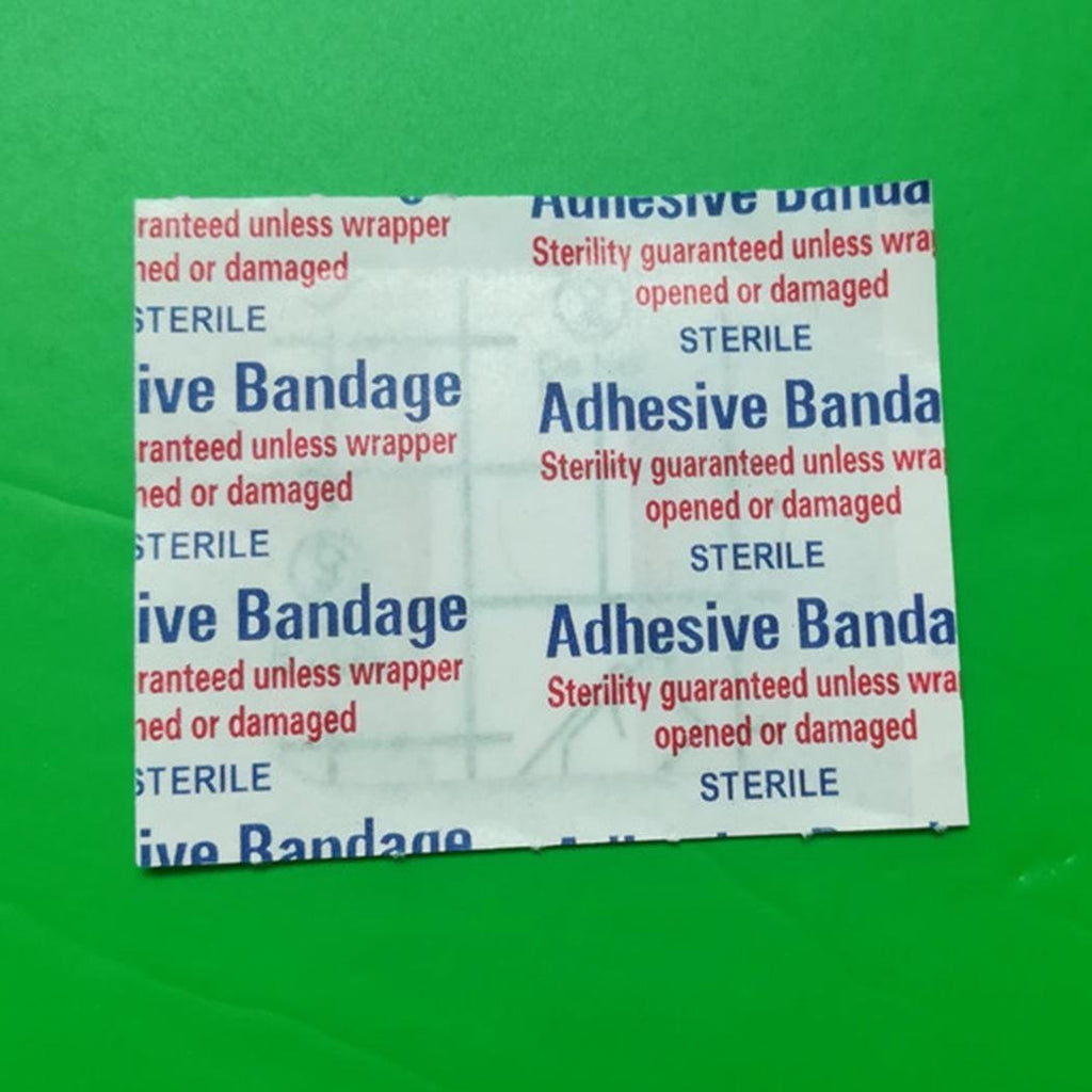 100Pcs Waterproof  Medical Wound Patches Adhesive Bandages Square Wound Stickers First Aid Care, 1.5inch