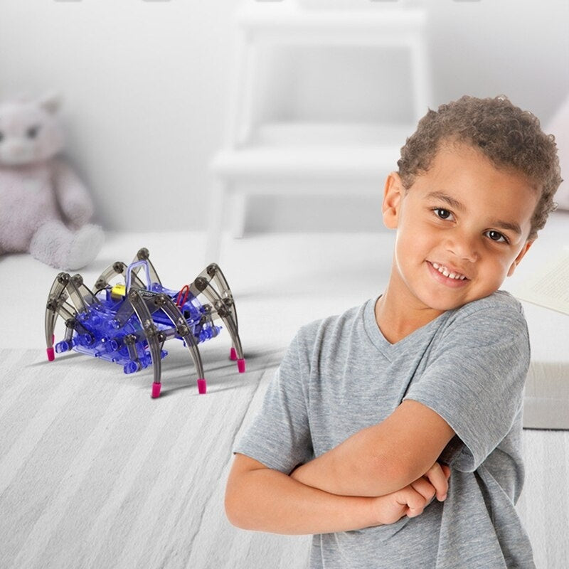 Scientific Experiment Toys DIY Spider Robot For Children Electric Spider Robot Assembles Toys Kits