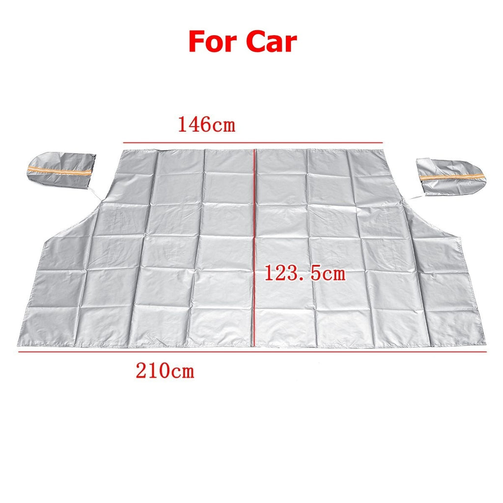 Magnetic Car Snow Cover Frost Car Windshield Snow Cover WIth Mirror Cover Frost Guard Protector Ice Cover Car Windshield Sun Shade Waterproof Windshield Protector Car