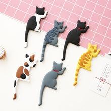 Load image into Gallery viewer, Creative Cartoon Lovely Cat Magnetic Sticker Fridge Magnet Hook Refrigerator Sticker Creative Hooks White Broad Memo Pad Sticker