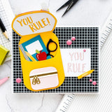Craft Metal Cutting Dies Mold Pencil Letter School Bag Scrapbook Paper Craft Mould Punch Stencils Dies