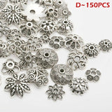 Silver Spacer Beads For Jewellery Making Bracelet 5 Styles