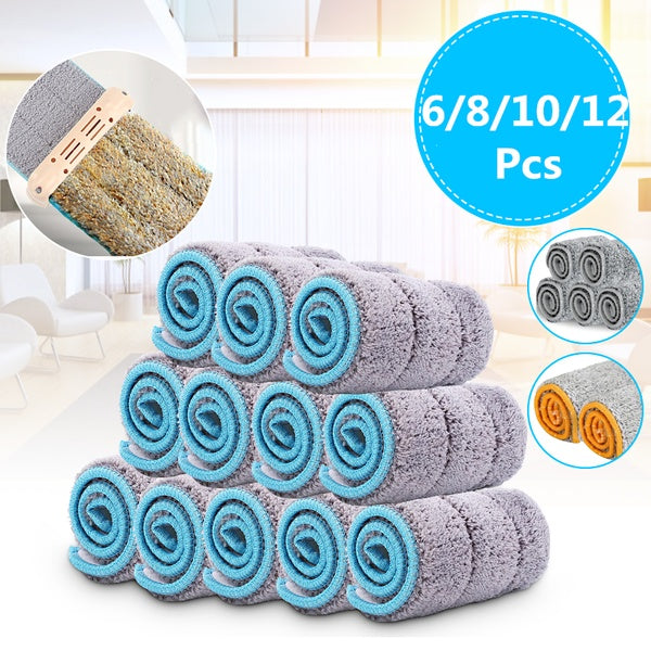 6/8/10/12Pcs 33x12cm/35x12cm/38x12cm Replacement Microfiber Washable Mophead Fit Flat Spray Mops Household Cleaning Tools