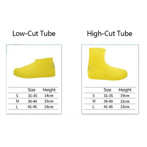 Latex Wear-resistant Boot Overshoes Rain Protector Shoe Covers Waterproof Non Slip Reusable Elastic