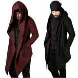 New Fashion Men Coat Autumn Winter Men's Long Sleeve Clothing Sweatshirt Hoodie Men Hooded Cardigan Loose Cloak Outerwear Plus Size XS-5XL