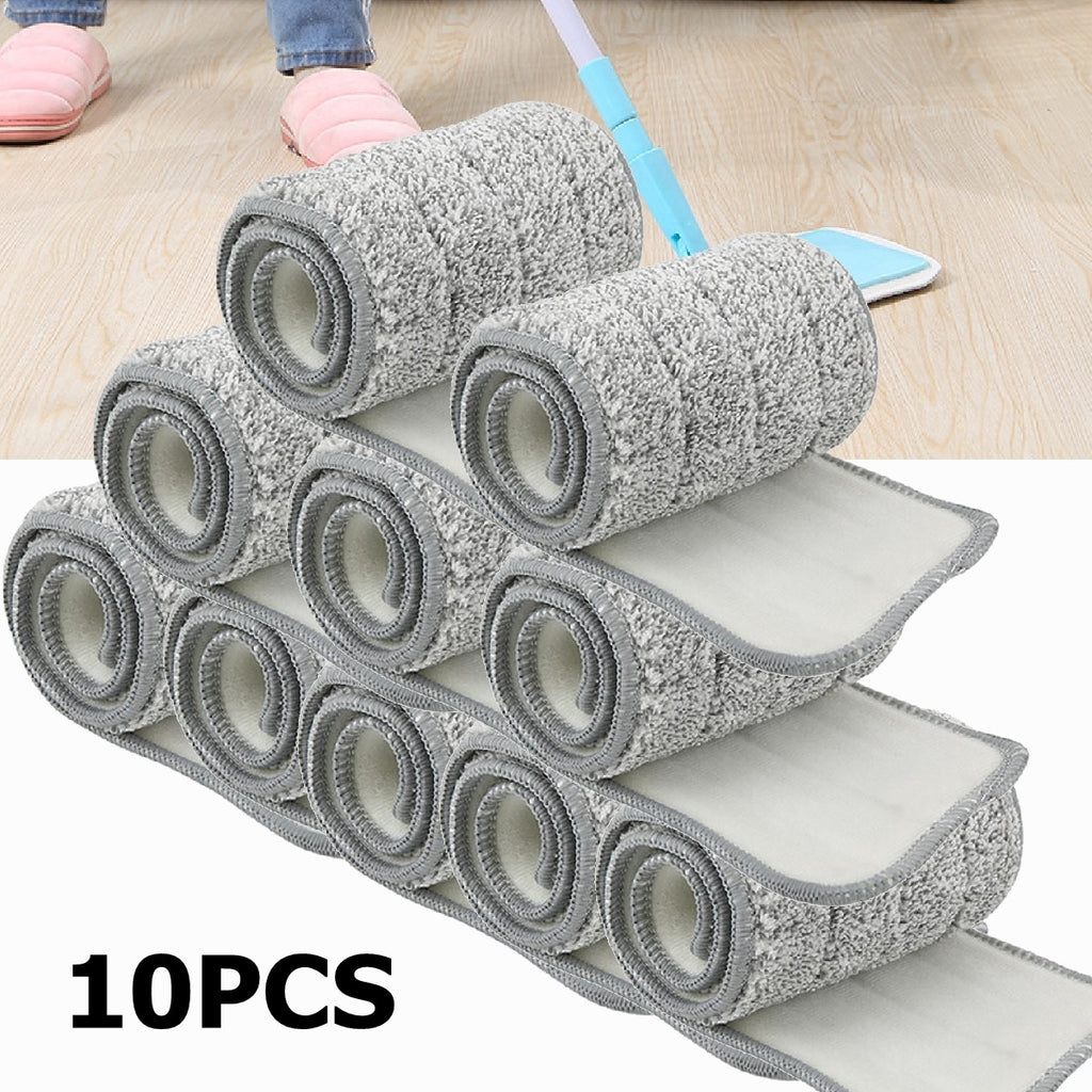 10Pads/20Pads/1Mop with 2Pads Set Flat Squeeze Mop Bucket or ONLY 10/20 Microfiber Pads Handsfree Floor Cleaning Mop Pads Tool