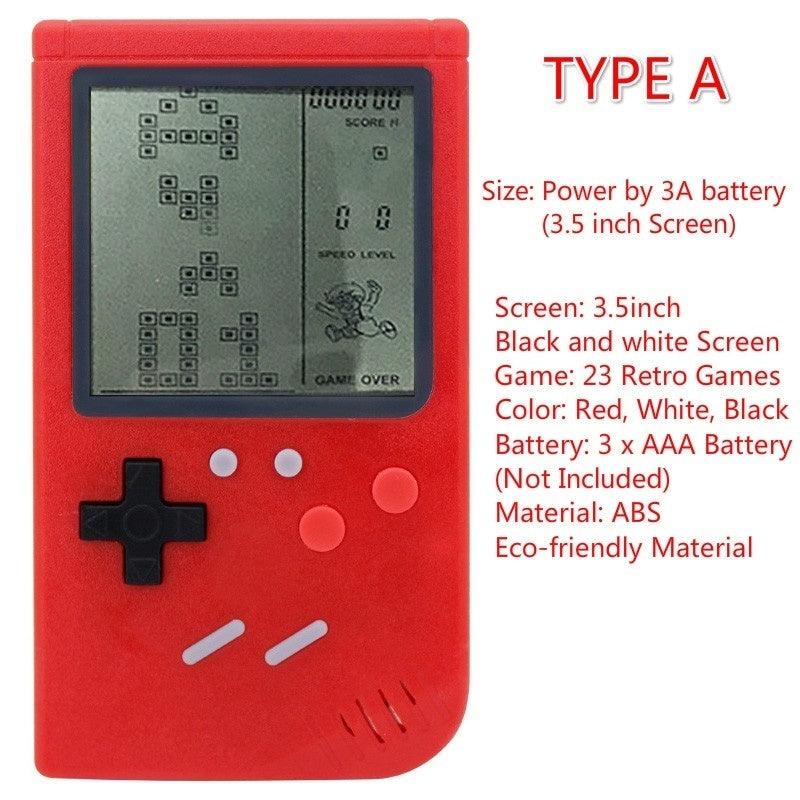New 3 Types Built-in 23/268/400 Video Game RETRO-FC Mini Handheld Game Console Computer Game 2.0 / 3.0 LCD 8-bit Mini Portable Game Console