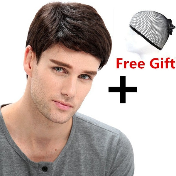 Fashion Father Short Soft Wigs for Men