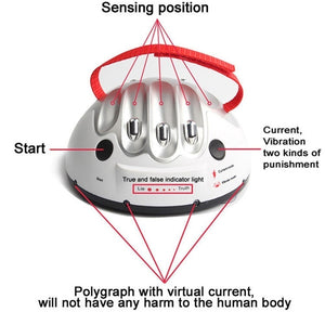 Tricky Funny Polygraph Toys Adult Game Test Electric Shock Lie Detector Shocking Liar Truth Dare Game