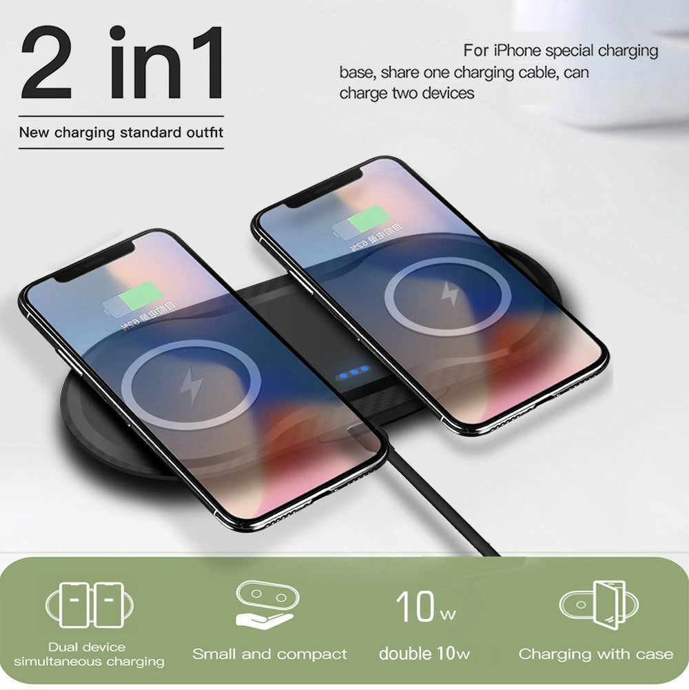 FDGOA Dual 10W Qi Fast Wireless Charging Pad Mobile Phone Charger Dock for Airpods Iphone X Xs Max Xr 8plus 8 Samsung S10 S9 S8 Galaxy Note 9 8 Huawei P30 P20 Pro