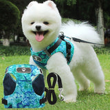 S-L Breathable Cat Dog Harness Vest Nylon Small Medium Pet Dog Leash Strap for Dog Training Warking