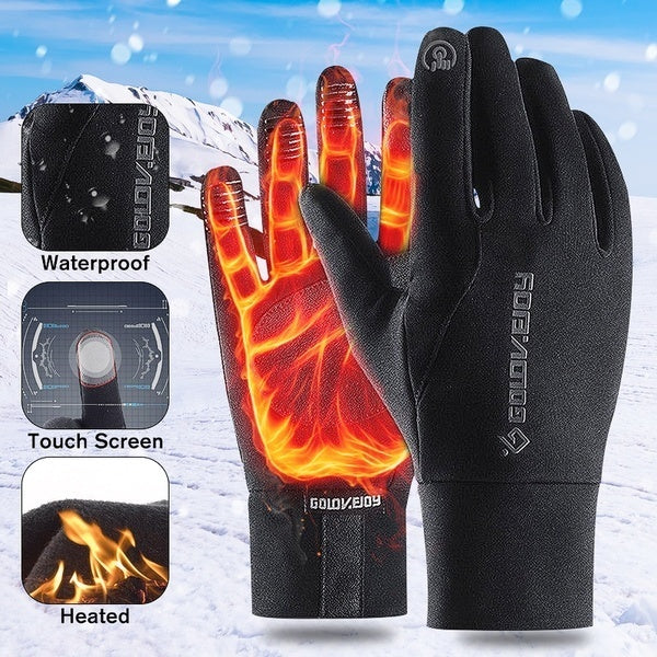 Autumn and Winter Warm Gloves Non-slip Men and Women Outdoor Sports Motorcycle Gloves Ski Gloves Waterproof Windproof Touch Screen Gloves