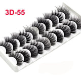 10Pairs 9 Styles Multipack 3D Mink Lashes False Eyelashes Natural Makeup Eyelash Extension Long Cross Volume Soft Fake Eye Lashes