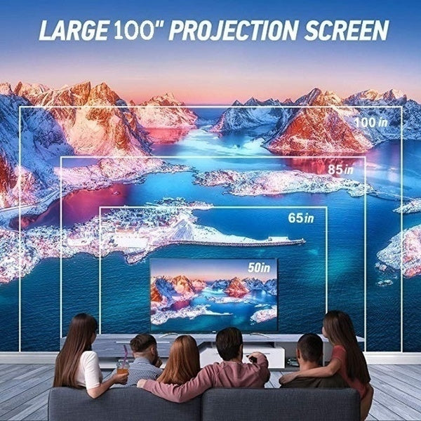 High Quality HD Projector Listed 18000 Lumens 1080P HD WiFi Mobile Phone with Screen Projector Home Theater Projector Portable Video Projector 4.0 Inch LCD Screen Office Top Projector Support TV HDMI / AV / USB / SD / VGA Interface
