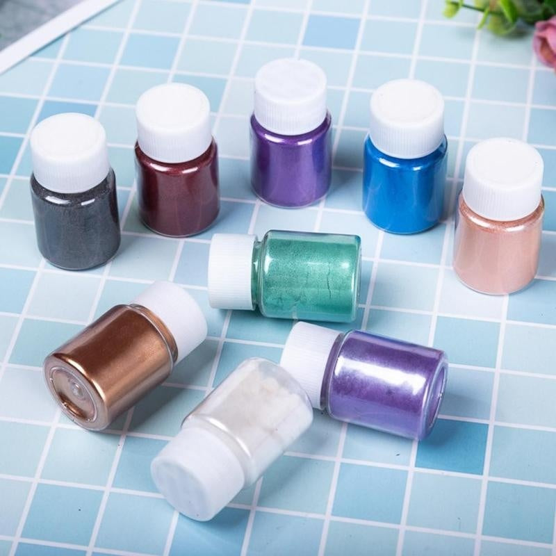 20 Colors Mica Powder Epoxy Resin Dye Pearl Pigment Natural Mica Mineral Powder