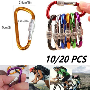 Hiking Camping Carabiner Buckle Keychain Clip Outdoor Sports Safety Climbing Button Mountaineering Hook Climbing Accessories