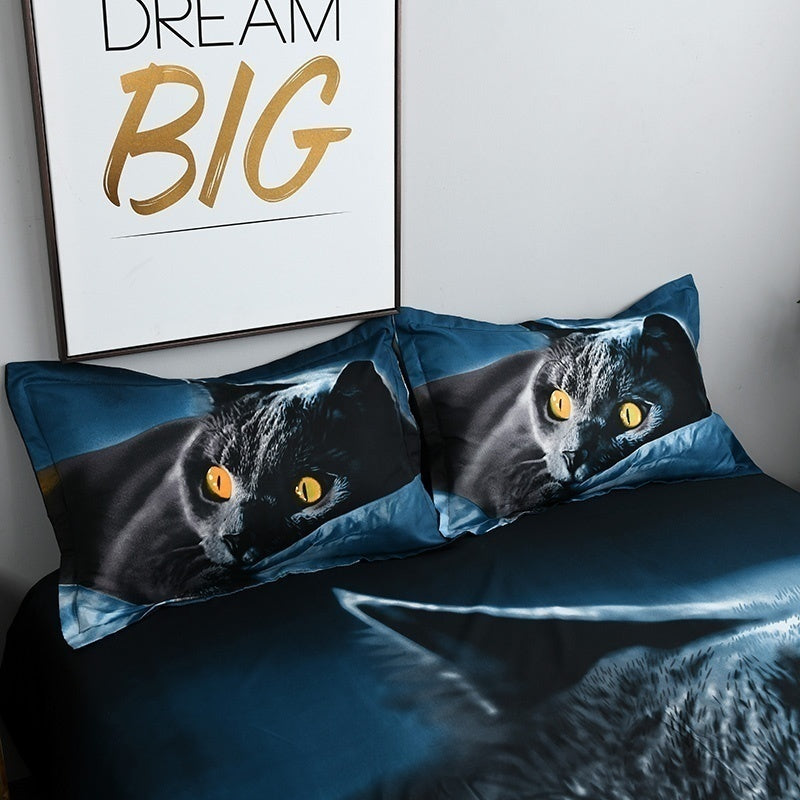 2/3Pcs Bedding Set New Design 3D Cat Printing Bedclothes Bedding Decor Winter Comfortable Bedding Sets