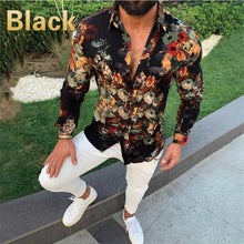 Load image into Gallery viewer, Men's Classic Print Slim Long Sleeve Lapel Shirt Men's Casual Handsome Daily Outing Shirt