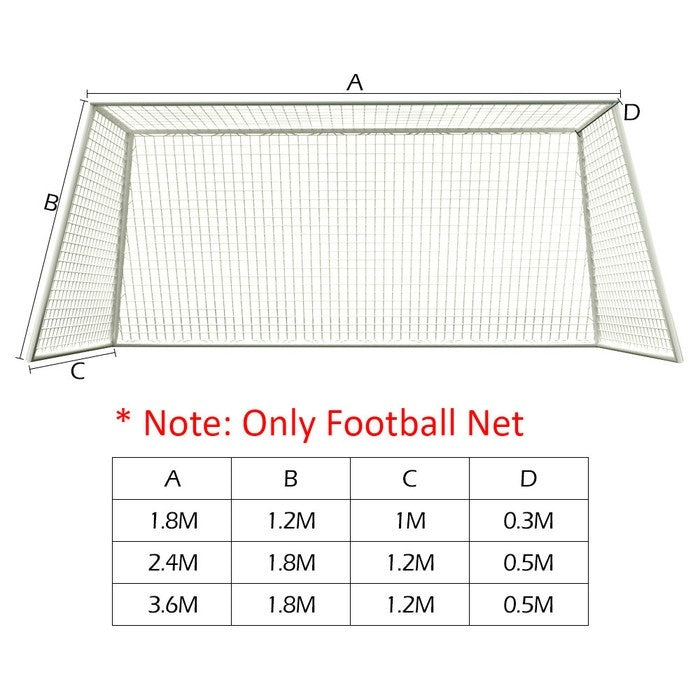 3 Sizes Football Net for Soccer Goal Post Junior Sports Training (Only football net)