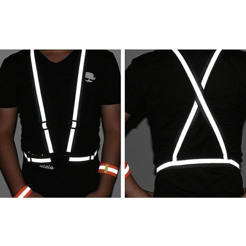 1PC 3 colors Adjustable Safety Security High Visibility Reflective Vest Gear Stripes Jacket