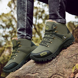 Hiking Boots Men's Winter Warm Boots Waterproof Boots Outdoor Sports Shoes Snow Boots for Men